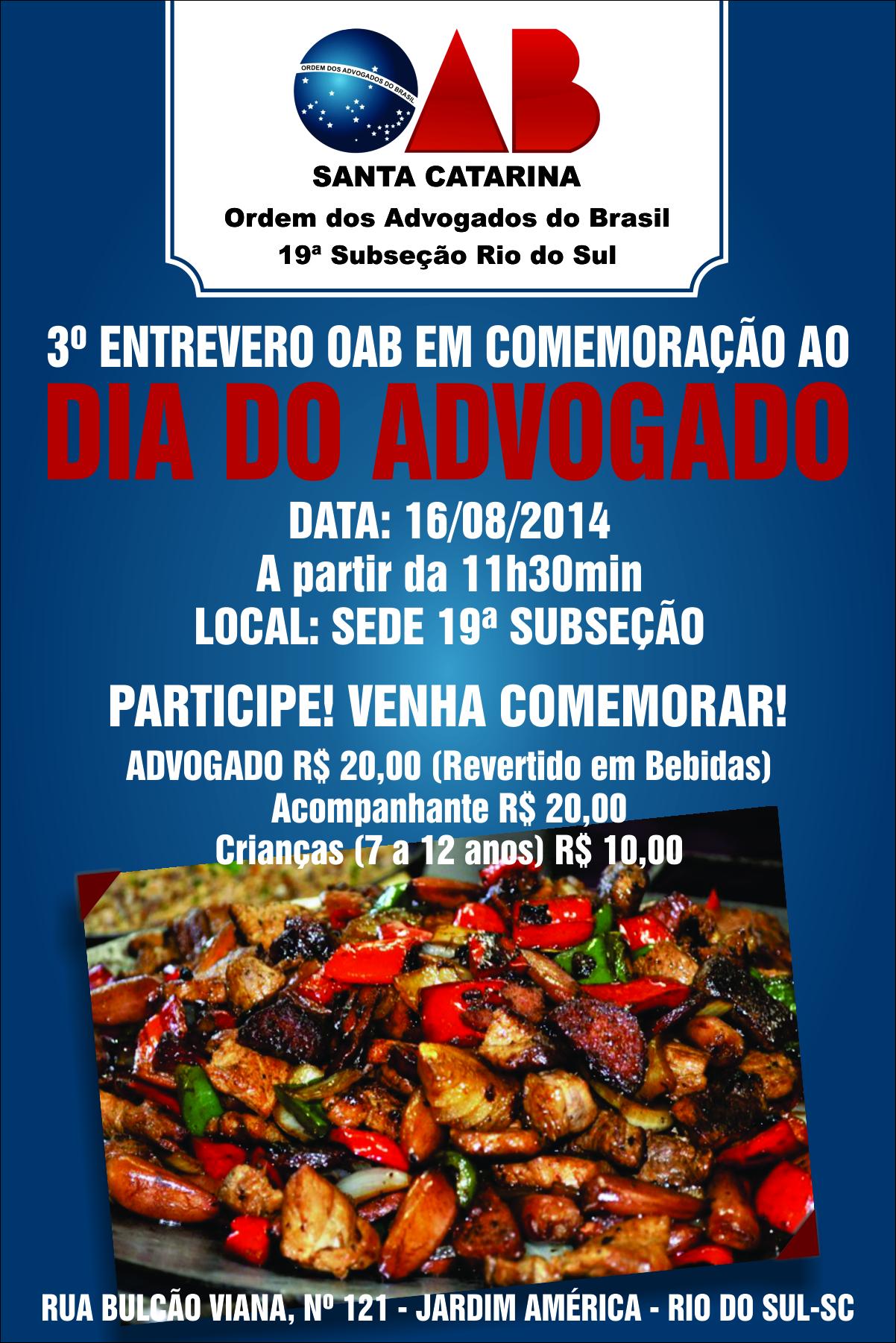 OAB Rio do Sul - Cartaz - 23072013