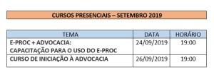 DIVULGAÇÃO MÊS SETEMBRO PRESENCIAL